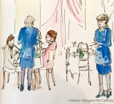 Blue Dress Waitresses